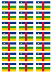 Central African Republic Flag Stickers - 21 per sheet